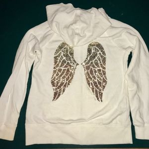 Victoria Secret Angel Wings Hooded Sweatshirt.Sz M